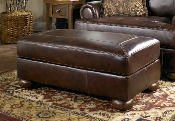 Axiom Walnut Ottoman