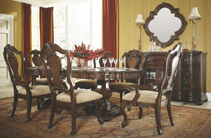La Bella Vita Extendable Double Pedestal Dining Room Set