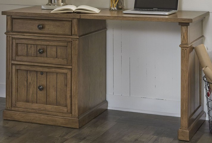 Cumberland Creek Rustic Oak Rectangular Desk