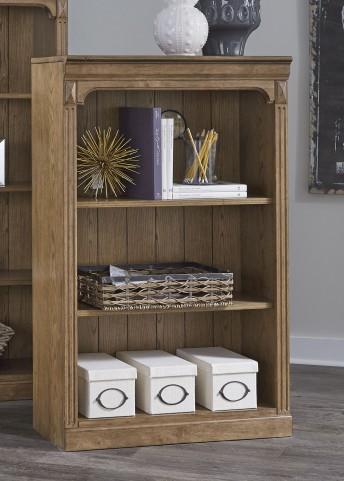 """Cumberland Creek Rustic Oak 48"""" Open Bookcase"""