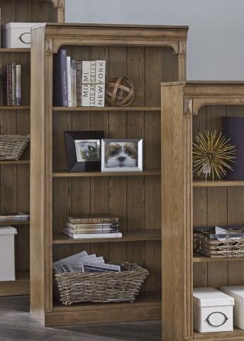 """Cumberland Creek Rustic Oak 60"""" Open Bookcase"""