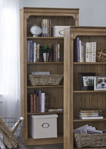 "Cumberland Creek Rustic Oak 72"" Open Bookcase"