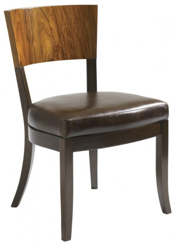 Aquarius Walnut Allure Side Chair