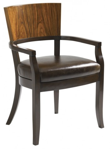 Aquarius Walnut Allure Arm Chair