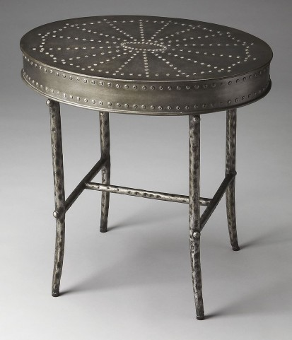 Bannon Industrial Chic Metalworks Accent Table