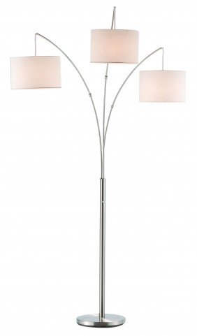 Trinity Satin Steel Arc Lamp