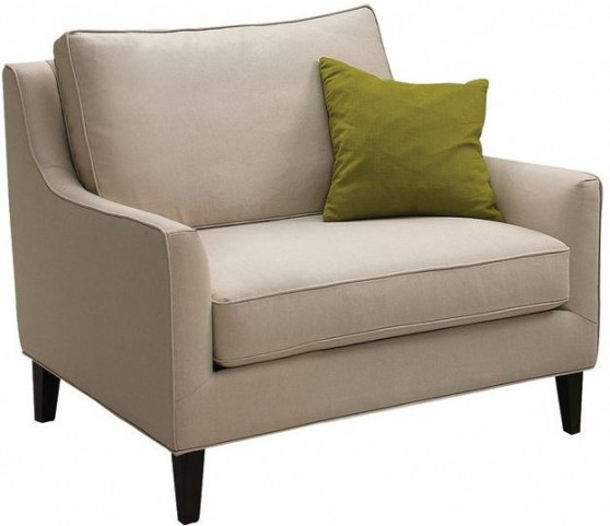 Hanover Beige Cotton Arm Chair