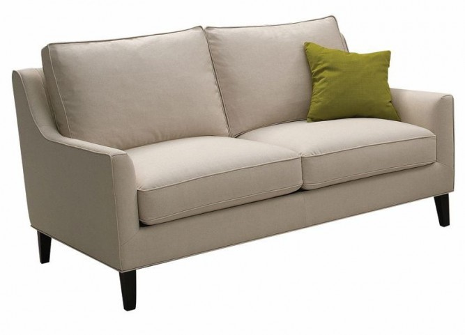 Hanover Beige Cotton Loveseat