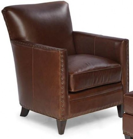 Logan Trends Walnut Leather Chair