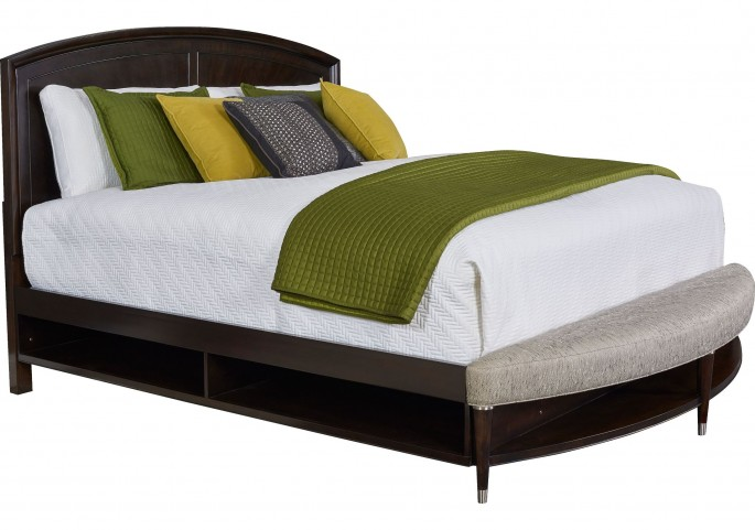 Vibe Merlot Queen Radius Bench Panel Storage Bed