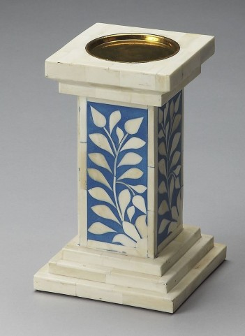 Hors D'Oeuvres Blue Bone Inlay Candle Holder
