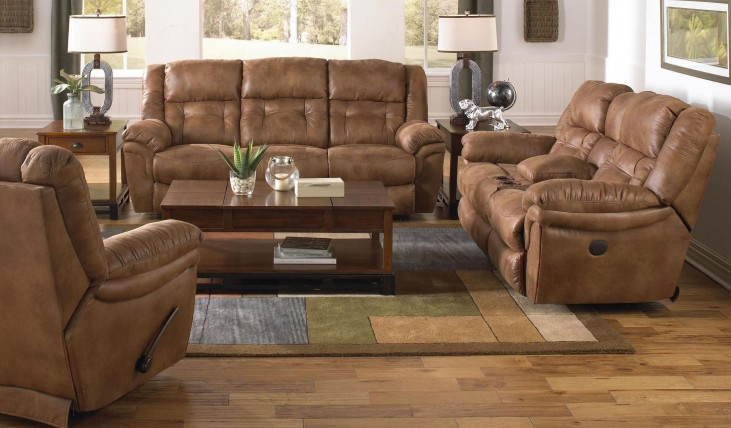 Joyner Almond Reclining Living Room Set