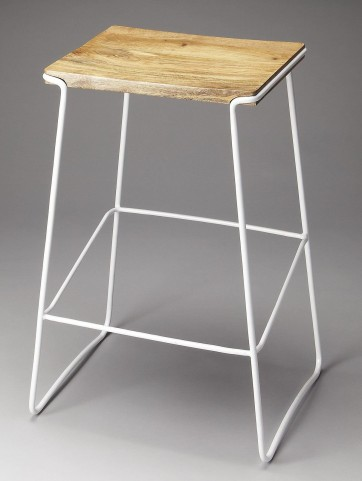 Parrish Loft White Bar Stool