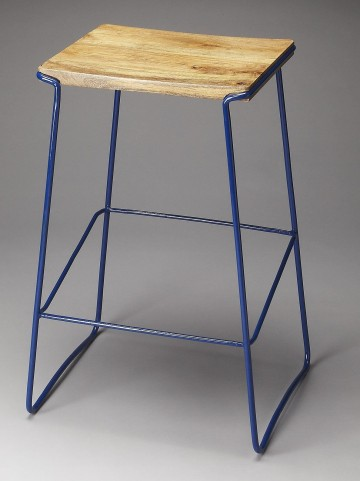 Parrish Loft Blue Bar Stool