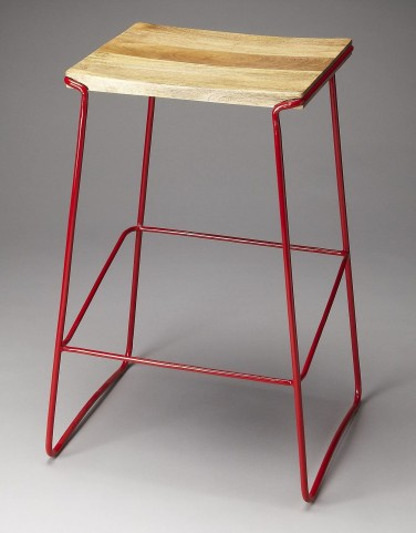 Parrish Loft Red Bar Stool