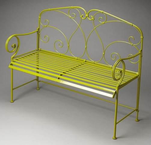 Halle Metalworks Green Bench
