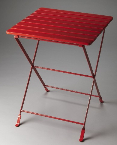 Bailey Industrial Chic Red Folding Side Table