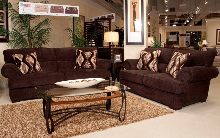 Hayden Espresso and Walnut Living Room Set
