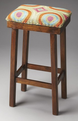 Bisbee Psychedelic Print Upholstered Bar Stool