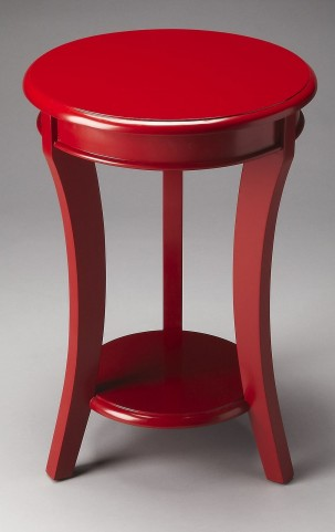 Holden Loft Red Accent Table