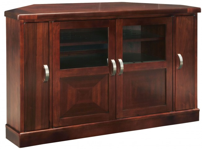 Studio Brown Mahogany Corner Entertainment Console