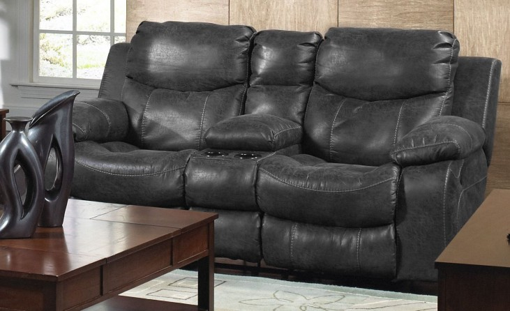 Catalina Steel Power Reclining Loveseat with Console