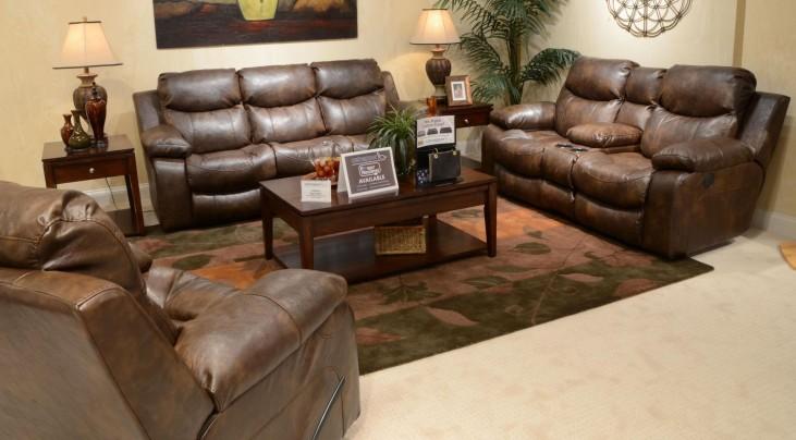 Catalina Timber Power Reclining Living Room Set