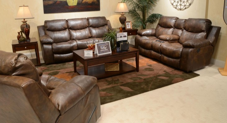 Catalina Timber Reclining Living Room Set