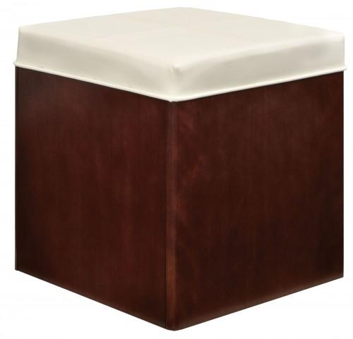 Soho Dark Brown Upholstered Storage Stool