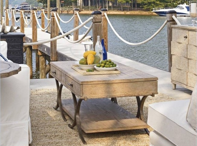 Coastal Living Weathered Pier Windward Dune Occasional Table Set