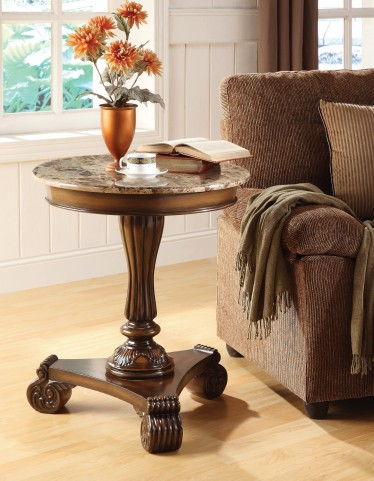 Accent Table W/ Marble Top 43376