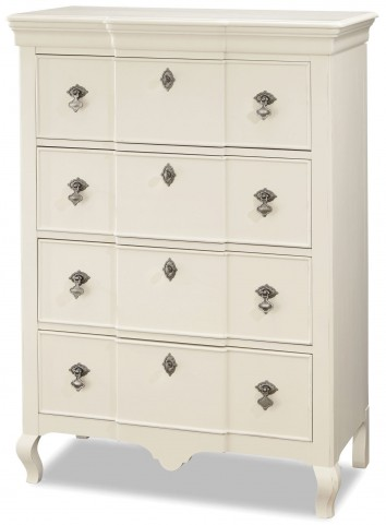 Genevieve French White Drawer Chest