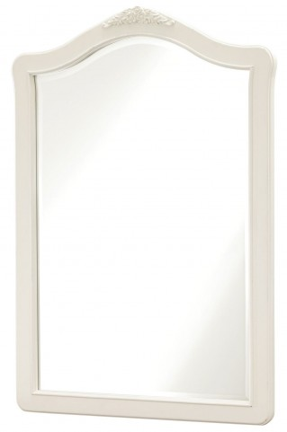 Genevieve French White Vertical Mirror