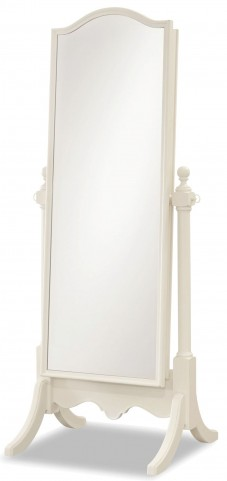 Genevieve French White Cheval Mirror