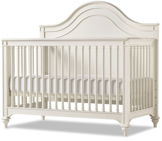 Genevieve French White Convertible Crib