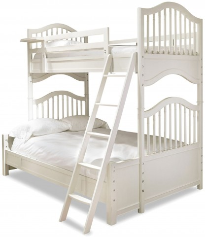 Genevieve French White Twin Over Full Bunk Bed