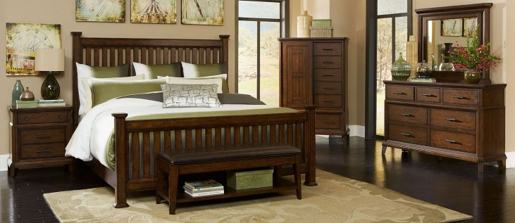 Estes Park Slat Poster Bedroom Set