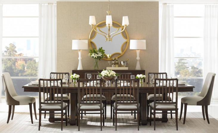 Crestaire Porter Lola Double Pedestal Extendable Dining Room Set