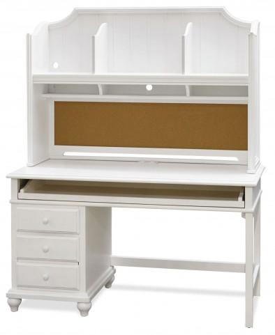Smartstuff White Desk with Hutch