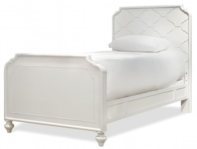 Smartstuff White Twin Panel Bed