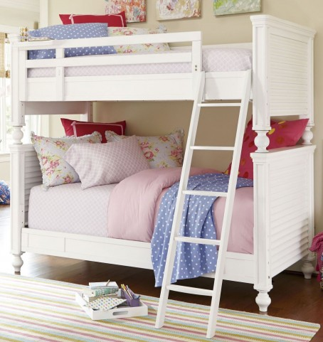 Smartstuff White Twin Over Twin Bunk Bed
