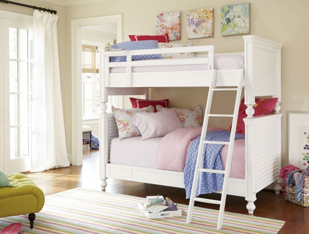 Smartstuff White Bunk Bedroom Set