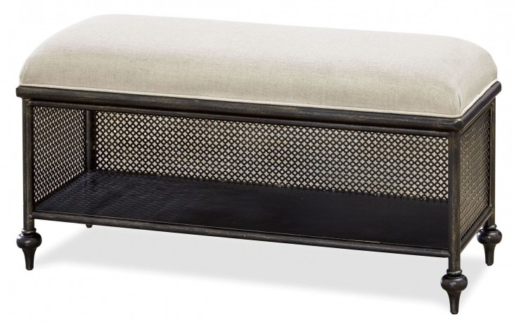 Smartstuff Black Metal Bed Bench