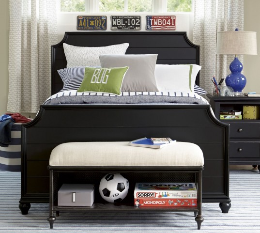 Smartstuff Black Panel Bedroom Set