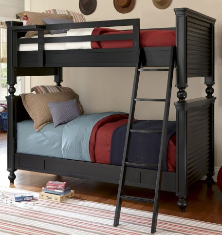 Smartstuff Black Twin Over Twin Bunk Bed