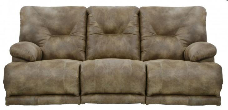 Voyager Brandy Reclining Sofa