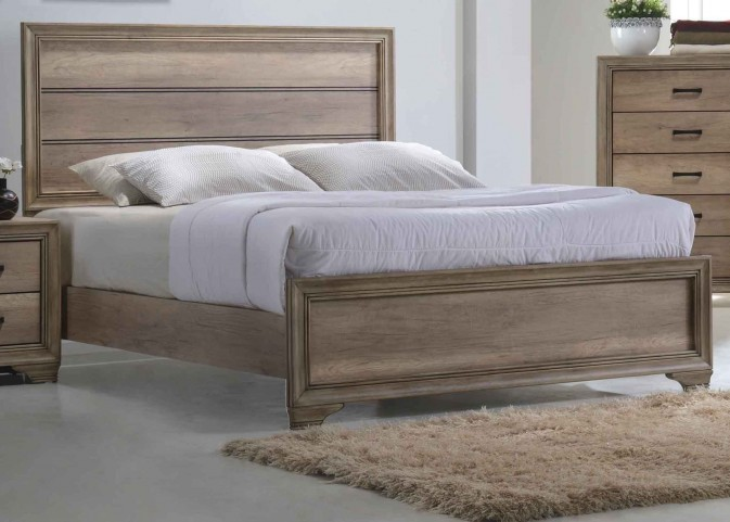 Sun Valley Sandstone King Panel Bed