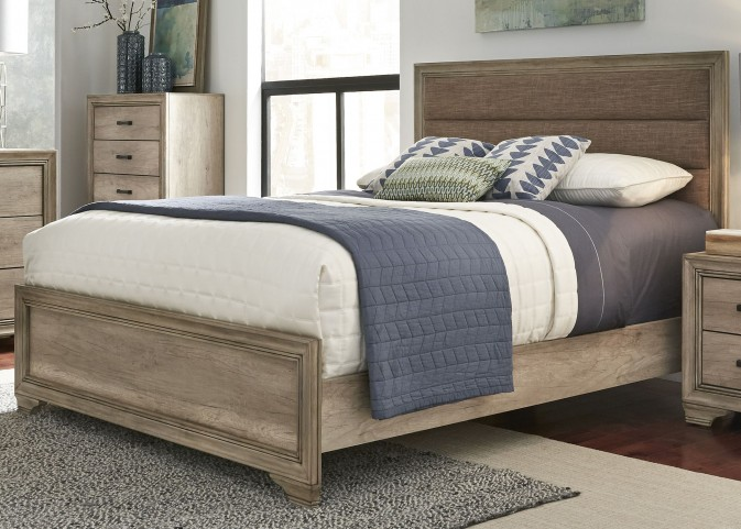 Sun Valley Sandstone Queen Upholstered Panel Bed