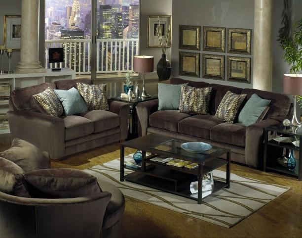 Whitney Chocolate Living Room Set