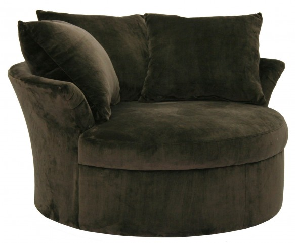 Whitney Chocolate Swivel Chair